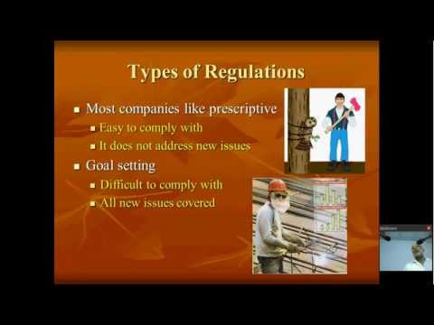 PUBLIC LECTURE : Health, Safety and Environmental regulations for industry