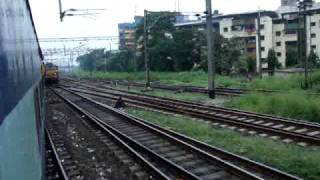 Indian Railways..Early Morning Crossing & Parallel action. On-board WCG-2 hauled Mahalaxmi express