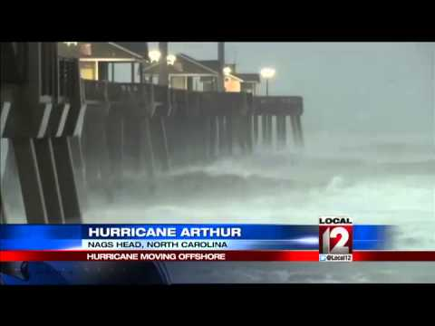 Hurricane Arthur reaches landfall