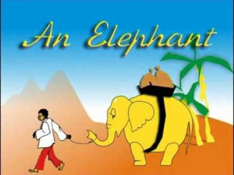 Стихотворение про слона. Английский в стихах и песнях.