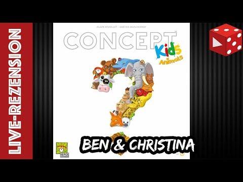 Concept Kids Tiere - Kinderspiel ab 4 Jahren - Live Rezension mit Ben und Christina