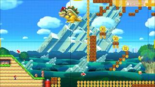Super Mario Maker 2 - Making a Level  - HD Gameplay