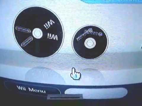 wii 4.2u with dark wii theme playing backups from main disc channel