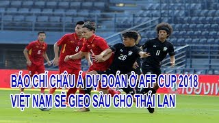 Asian Journalists Predict That Vietnam Will Sow To Thailand In AFF CUP 2018