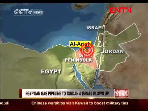 Egyptian gas pipeline to Jordan & Israel blown up CCTV News