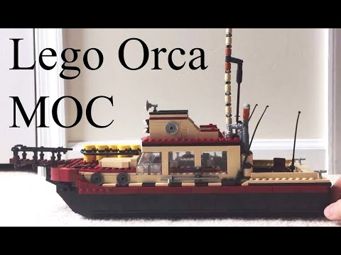 Lego Jaws Orca Boat MOC