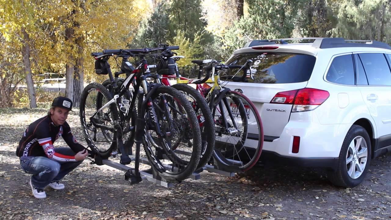 Subaru and Thule Bike Rack Review - YouTube