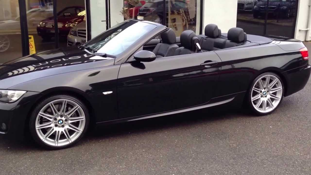Bmw 330i M Sport Convertible Black Auto For Sale At