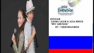 Sasha Lazin & Liza Drozd Boy and Girl  russia jesc 2010