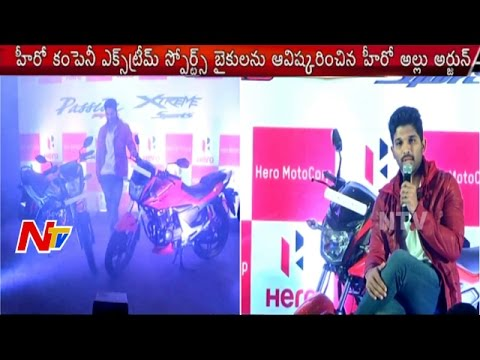 Allu Arjun Launches Hero CBZ Extreme Sports and Passion Pro Bikes