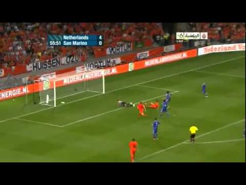 Netherlands vs San Marino 11-0 Full Highlights (Euro 2012 Qualifiers) September 2 - 2011
