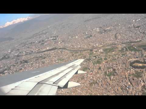 Nepal Air flight from Kathmandu airport to Hong Kong