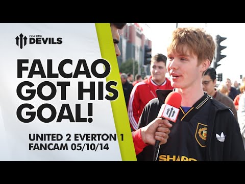 Falcao Got His Goal! | Manchester United 2 Everton 1 | FANCAM