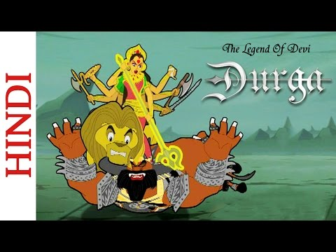 The Legend Of Devi Durga - Goddess Durga Kills Mahishasura - Hindi Mythological Stories video