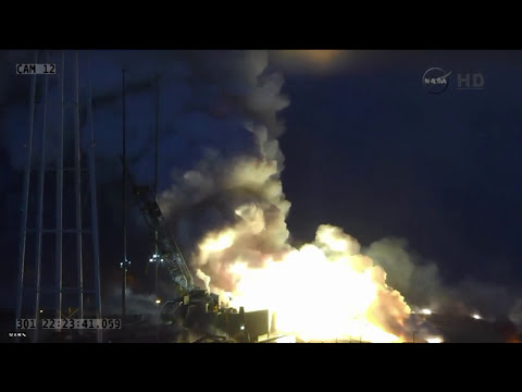 NASA Antares Rocket Explosion [HD] [FULL]