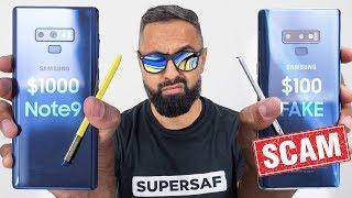 FAKE $100 Galaxy Note 9 vs REAL Galaxy Note 9