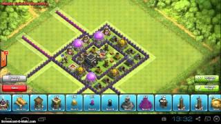 Aldea ayuntamiento 8 guerra de clanes 4 morteros th8 war base 4 mortar