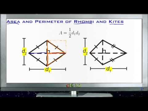 Area and Perimeter of Rhombuses and Kites Principles - Basic