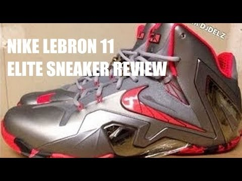 Nike Lebron 11 ELITE Grey Crimson Team Sneaker Detailed HD Review + On Feet With @DjDelz Superhero