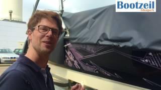 Installatie af dekzeil speedboot