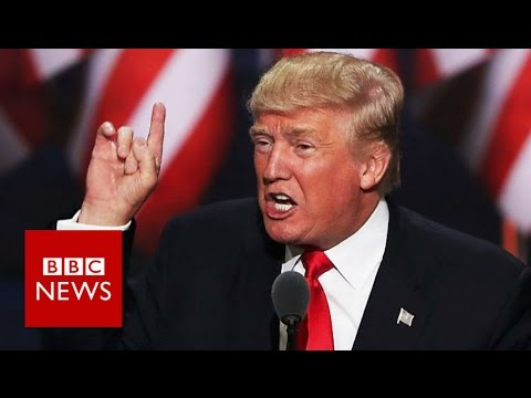 """""""I am the law and order candidate"""" Donald Trump - BBC News"""