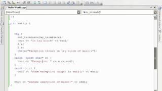 09  C++ Exception Handling   53  Stack Unwinding