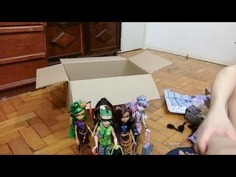 Monster High Scaris - Skelita. Jinafire. Clawdeen. Rochelle e Deuce dolls unboxing