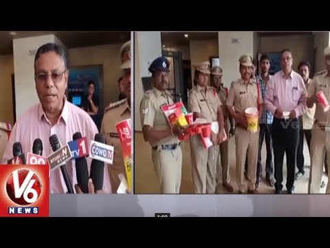 TS Legal Metrology Department Raids On Kachiguda INOX | Hyderabad | V6 News