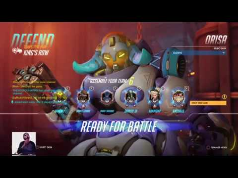 Overwatch competitive Gameplay Live PS4