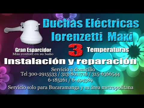 Duchas Eléctricas lorenzetti - B/mangaTel 6185261/300-2915533/315-6366544/313-8