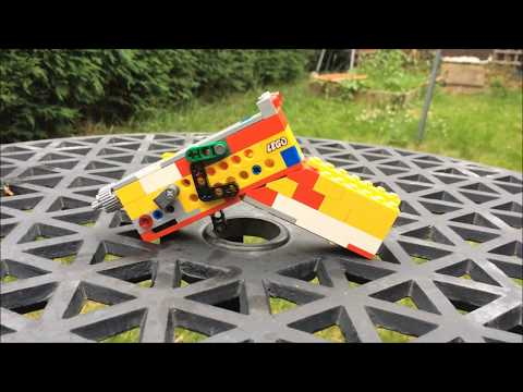 LEGO Mini Semi-Auto Pistol (RBG) - Accurate and Powerful LEGO Guns - S3E2B