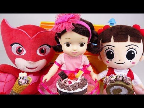 자두집에 놀러간 꼬마캐리와 파자마삼총사의 심쿵 케이크 만들기 - 두두팝토이