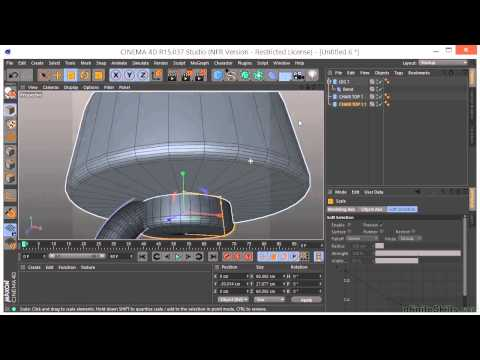 Maxon Cinema 4D R15 Tutorial   Building A Chair And Table