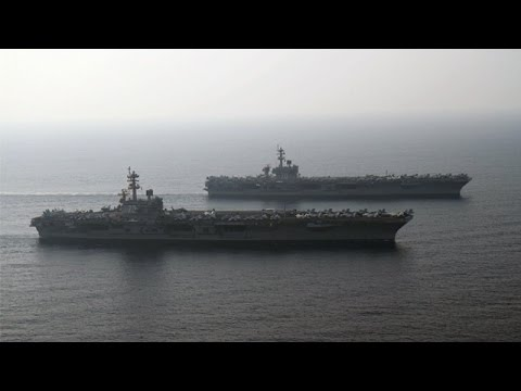 Carl Vinson and George H.W. Bush Strike Groups Turn Over in 5th Fleet (HL22)