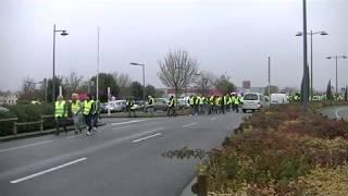 Gilets jaunes - 01.12.18 (3) - Espace Carat - Les gilets jaunes rejoignent les agriculteurs