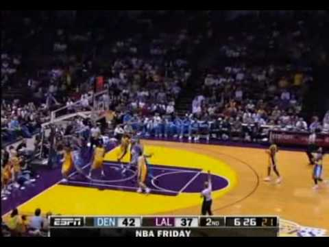 Nuggets Ty Lawson 29 pts vs Lakers 10 23 09 Preseason