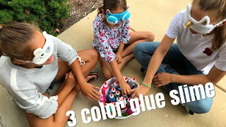 3 colors slime challenge doen in Amerika