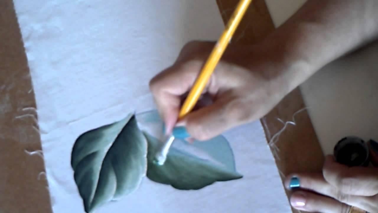 Como pintar folhas c dina gomes youtube - Como pintar sobre tela ...
