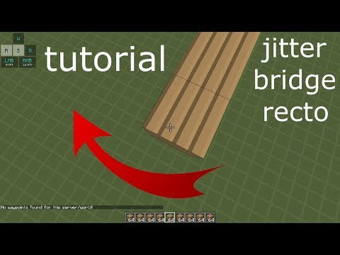 °|TuToRiAl JITTER BRIDGE RECTO tEcNiCaS dE PUENTES SIN SHIFT MINECRAFT