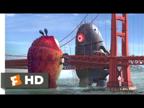 Monsters vs. Aliens (2009) - Golden Gate Grapple Scene (5/10)   Movieclips