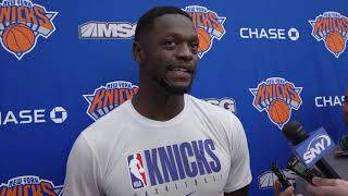 Julius Randle Speaks at Knicks Practice, 10/14/19