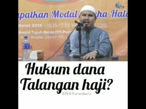 Video dana talangan haji halal