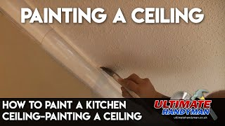 How to paint a yellowed kitchen ceiling