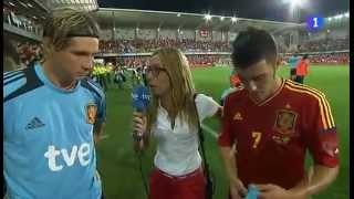 Fernando Torres Interview about Return of Villa after the match against Saudi Arabia