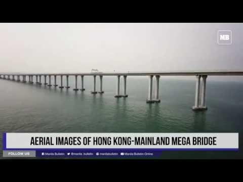 Aerial images of Hong Kong-mainland mega bridge