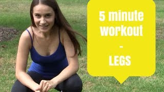 5 Minute Workout: 5-minute Lunges