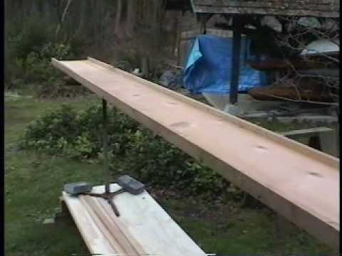 Ripping cedar strips for a homemade kayak
