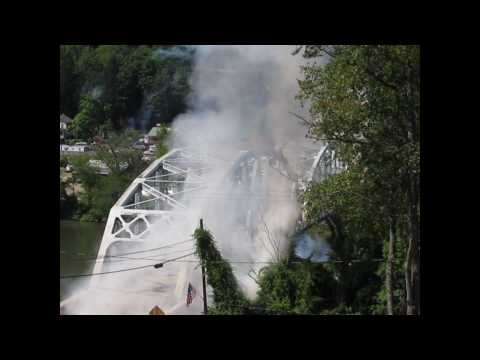 Remagen Bridge Reenactment - August 7, 2010 - Simulated Bridge Demolition
