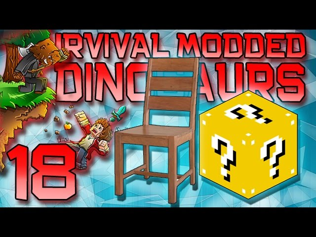 Minecraft: Modded Dinosaur Survival Let's Play w/Mitch! Ep. 18 - Fancy Furniture, and Lucky Blocks!