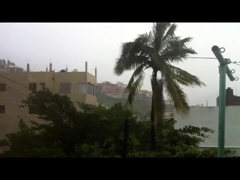 Tormenta tropical Manuel en Acapulco